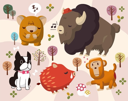 animals in park Vector