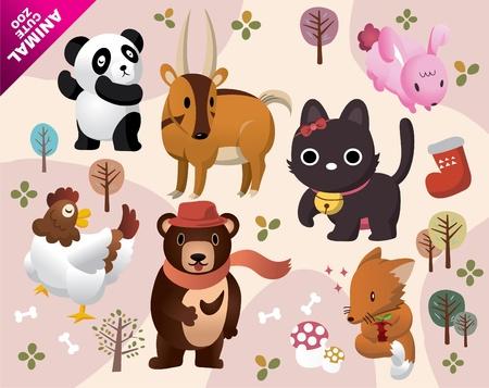 cute animals zoo Stock Vector - 8504828
