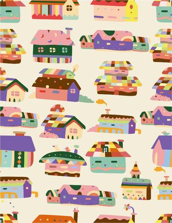 family moving house: seamless House pattern
