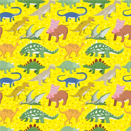 big icons: seamless Dinosaur pattern Illustration