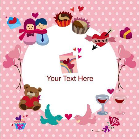 handkerchief: Valentines Day card