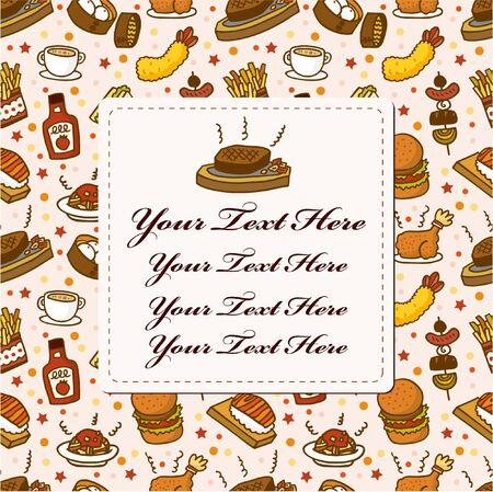 restaurant card Stock Vector - 8513596