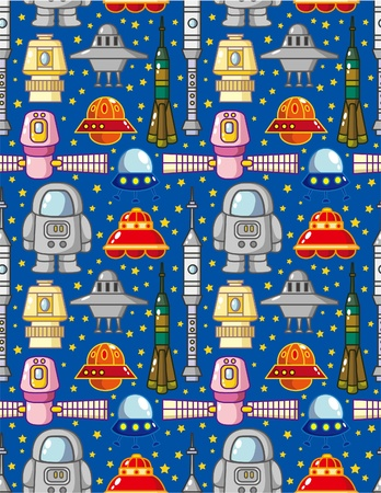 seamless space pattern Stock Vector - 8505644