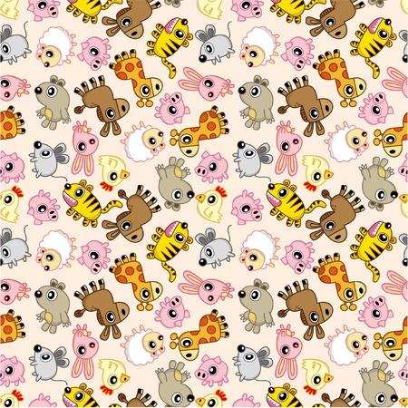 seamless animal pattern Vector