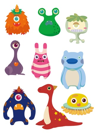 h�sslich: Cartoon Monsters Illustration