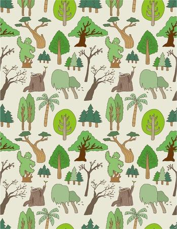 seamless tree pattern Stock Vector - 8505694