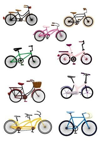 motor bikes: cartoon Bicycle