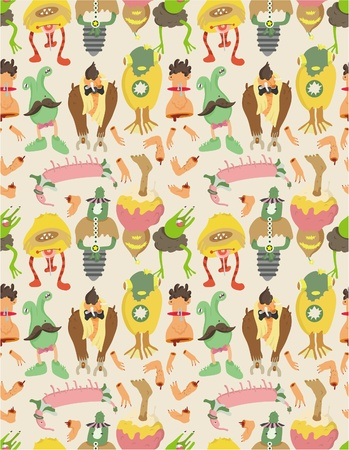 funny creature: seamless monster pattern