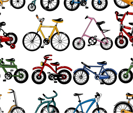 seamless bicycle pattern Stock Vector - 8505634