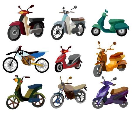 moto: cartoon motorcycle