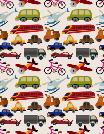 transportation cartoon: seamless transport pattern