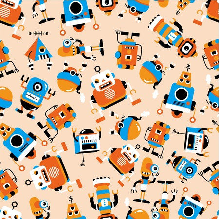 space program: seamless robot pattern