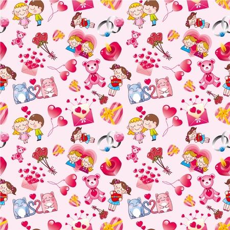 heart seamless pattern: seamless Valentines Day pattern