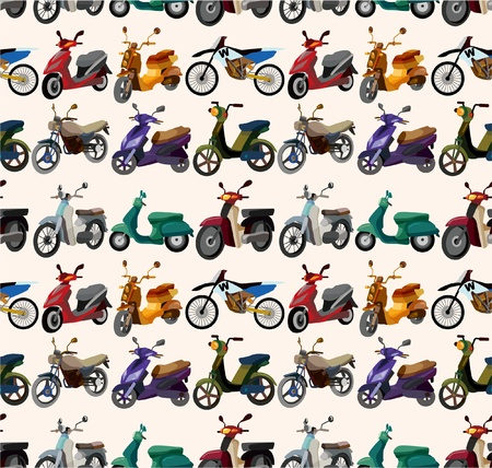 seamless motorcycles pattern Vector