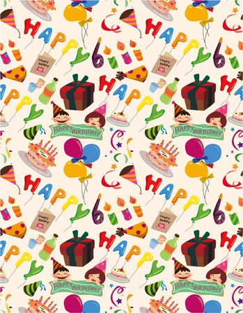 seamless birthday pattern Stock Vector - 8505690