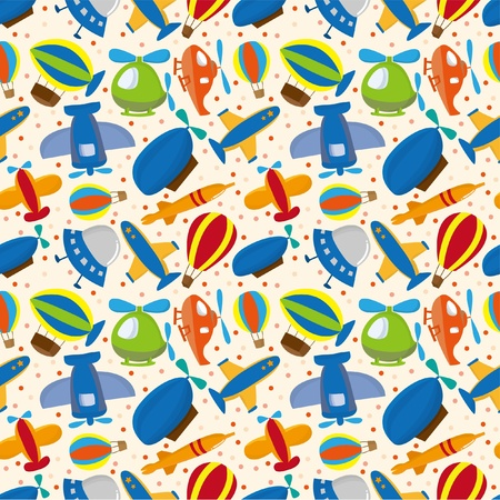 seamless airplane pattern Stock Vector - 8505689