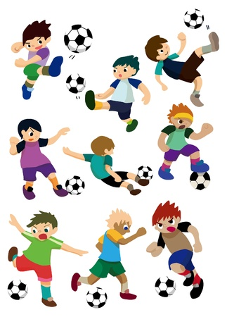 goalie: cartoon football player Illustration