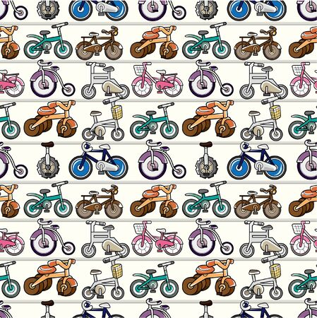 seamless bicycle pattern Stock Vector - 8505650