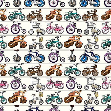 rung: seamless bicycle pattern
