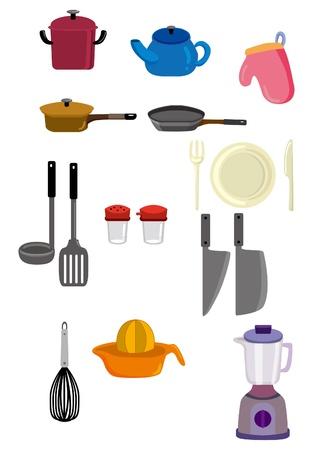 kitchen cartoon: icono de cocina de dibujos animados Vectores