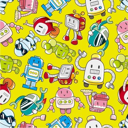 alien cool: seamless robot pattern