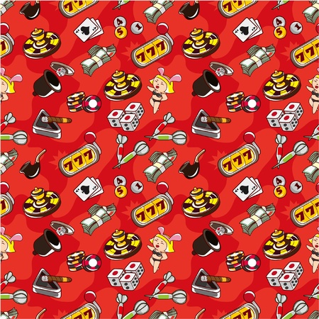 seamless Casino pattern Stock Vector - 8505647