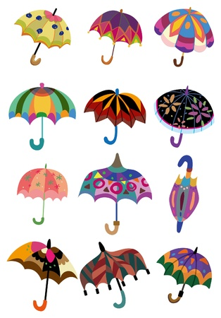 cartoon Umbrellas Vector