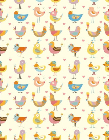 seamless sky: seamless bird pattern