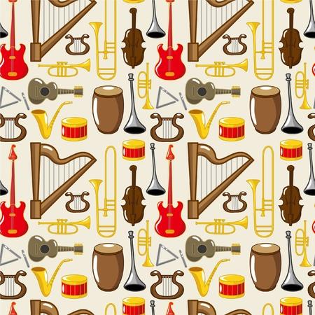 cartoon musical instruments Stock Vector - 8505646