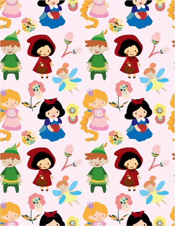 seamless story people pattern Stock Vector - 8505648