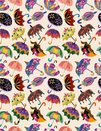 seamless umbrellas pattern Vector