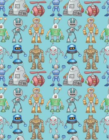 seamless robot pattern Stock Vector - 8505659