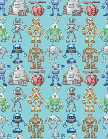 science fiction: seamless robot pattern