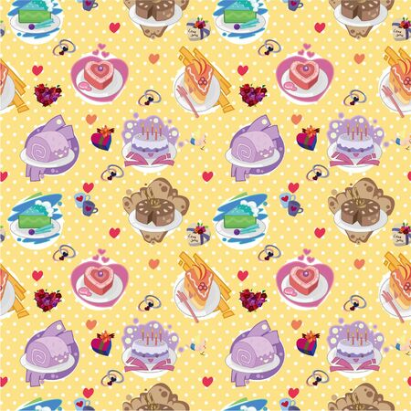 seamless cake pattern Stock Vector - 8505700
