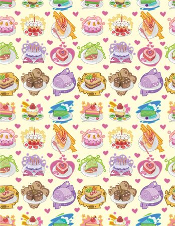 fairycake: seamless cake pattern Illustration