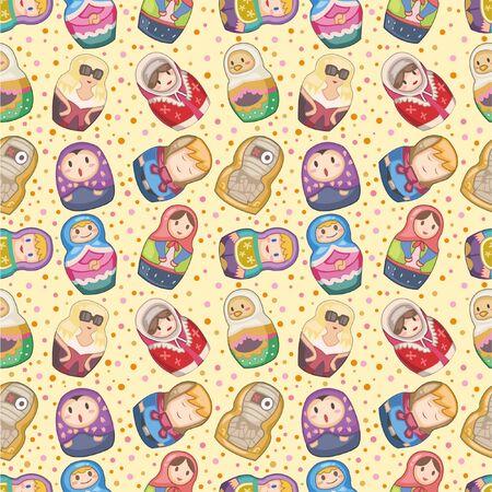 seamless Russian dolls pattern Stock Vector - 8505693