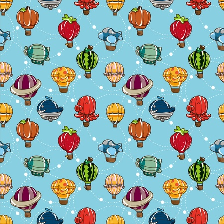 seamless hot air balloon pattern Stock Vector - 8505691