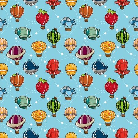 seamless hot air balloon pattern Stock Vector - 8505691