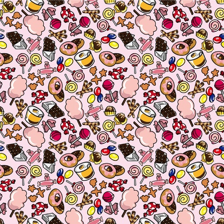 seamless candy pattern Stock Vector - 8505699