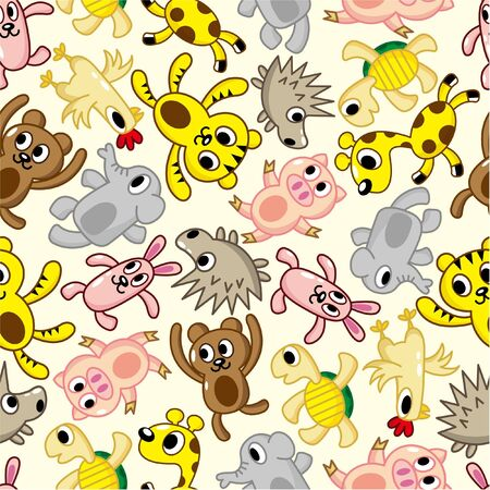 seamless animal pattern Stock Vector - 8505639