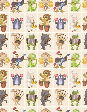 seamless animal play music pattern Stock Vector - 8505692