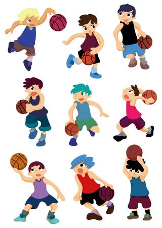 cartoon basketball player icon Stock Vector - 8505625