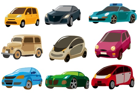 police cartoon: cartoon car icon