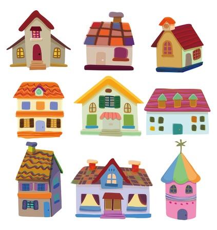 home moving: icono de casa de dibujos animados Vectores