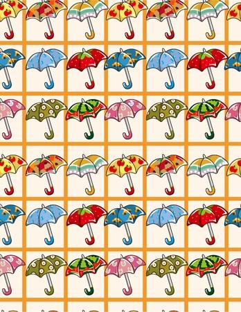seamless Umbrellas pattern Stock Vector - 8523345