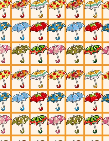 cilp: seamless Umbrellas pattern