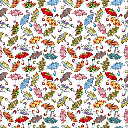 seamless Umbrellas pattern Stock Vector - 8523351