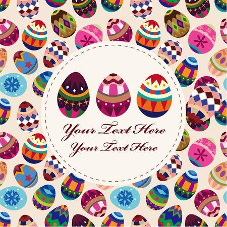 postcard background: Easter egg card