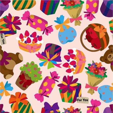 cilp: seamless gift pattern Illustration