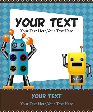 robot toy: robot card Illustration
